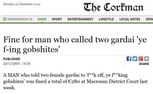 Corkman news headline f-in gobshites