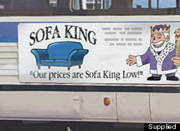 sofa king bus ad