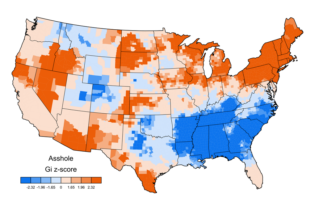 Mapping The United Swears Of America Strong Language - Us map com