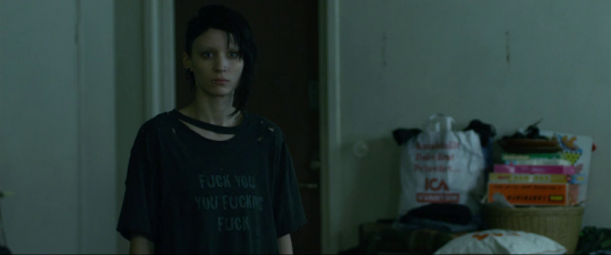 Girl with the Dragon Tattoo 2011 - Rooney Mara T-shirt - Fuck you you fucking fuck s