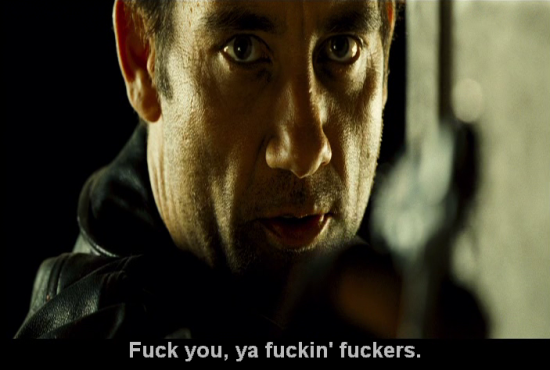shoot em up - clive owen - fuck you, ya fuckin fuckers