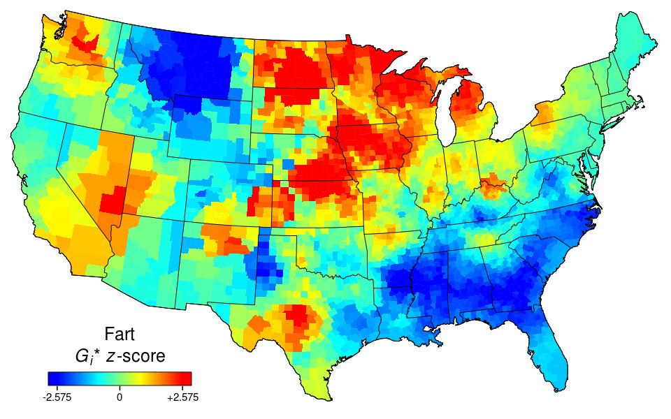 Sweary Maps Swear Harder Strong Language - Heat map of us