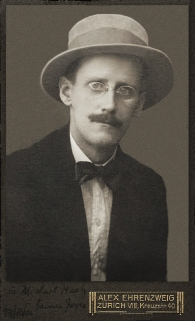 James Joyce by Alex Ehrenzweig, 1915 restored