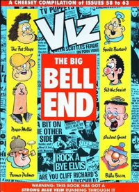 "Front cover of Viz comic compilation titled ""Viz: The Big Bell End"""