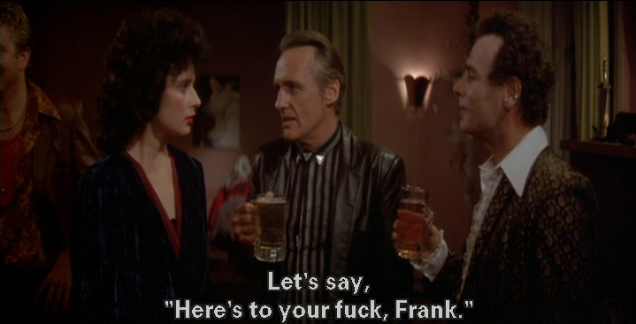 "Hopper continues: ""Let's say, 'Here's to your fuck, Frank.'"""