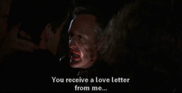 "Hopper: ""You receive a love letter from me..."""