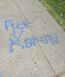 Fuck U Karen graffiti Oakland